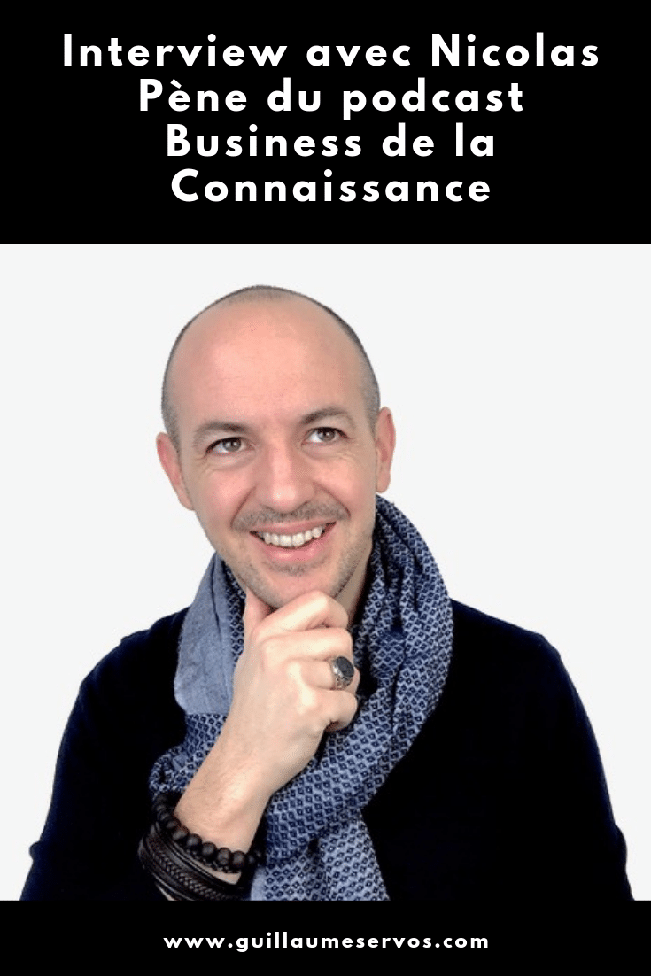 Découvre mon interview avec Nicolas Pène, entrepreneur et fondateur du podcast Business de la Connaissance. Au menu : son rapport à l'entrepreneuriat, au podcasting, aux réseaux sociaux et au voyage.