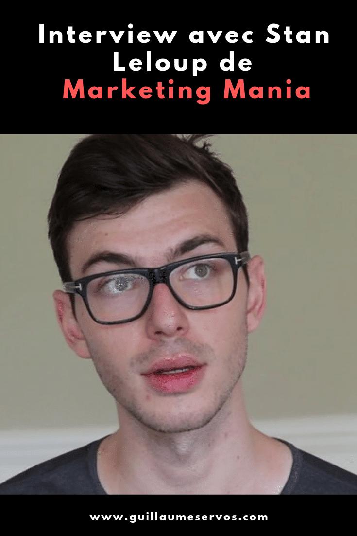 Découvre mon interview avec Stan Leloup de Marketing Mania. Au menu : son rapport à sa chaîne YouTube, aux réseaux sociaux et au voyage.