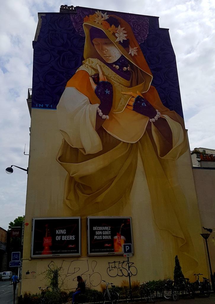 Le street art d'Inti, boulevard Vincent Auriol (Paris 13)