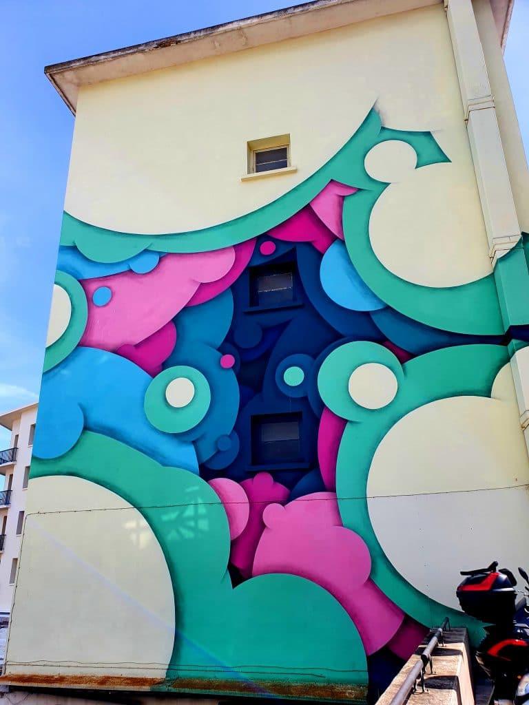 La fresque street art de Jan Kalab à Sète (France)