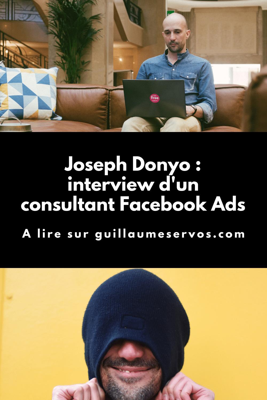 """Découvre mon interview avec Joseph Donyo, consultant Facebook Ads et créateur du podcast """"No pay no play"""". Au menu : son rapport au freelancing, au podcasting, aux réseaux sociaux et au voyage."""