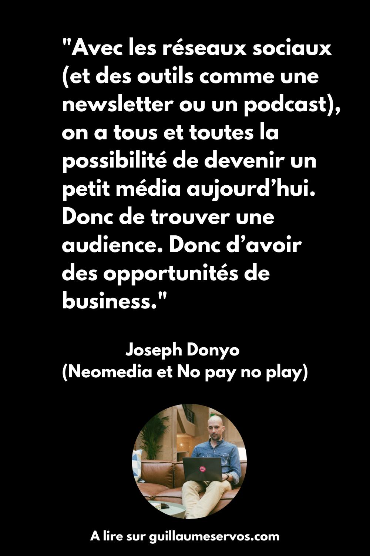 Citation du créateur de Neomedia