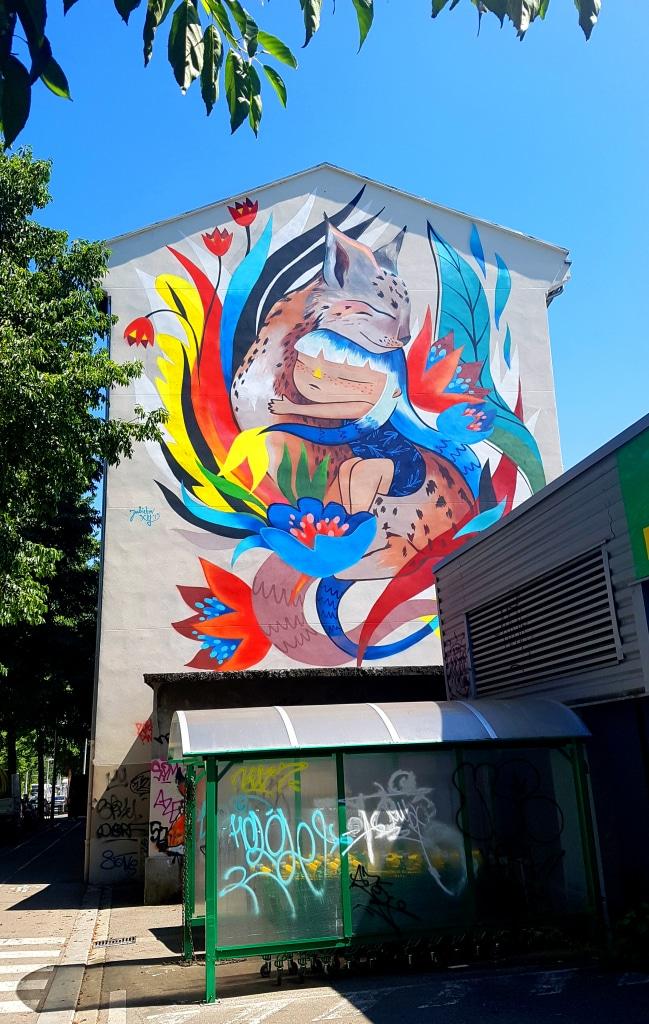 Julieta XLF, 8 avenue Gabriel Péri, Saint-Martin-D'Hères, street art grenoble