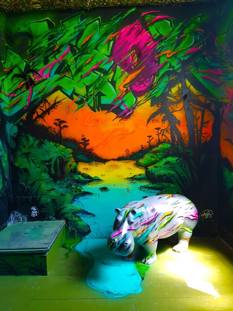 L'hippo du street artiste Koey 84, Lyon.