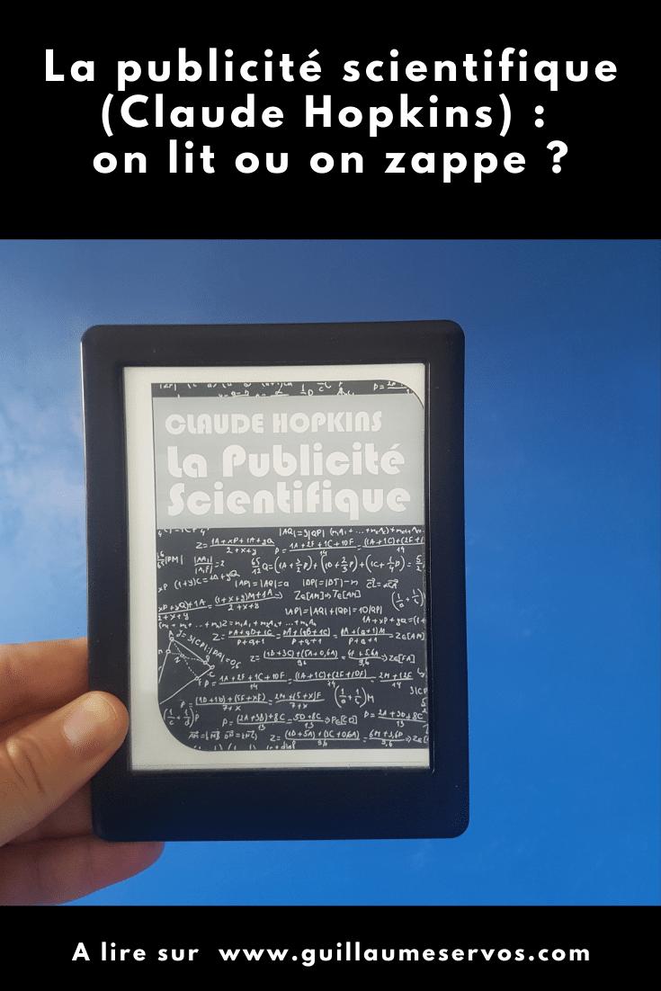 Comment doubler, tripler, voire plus tes ventes avec la publicité scientifique ? Claude Hopkins nous partage toute son expérience de publicitaire de génie.