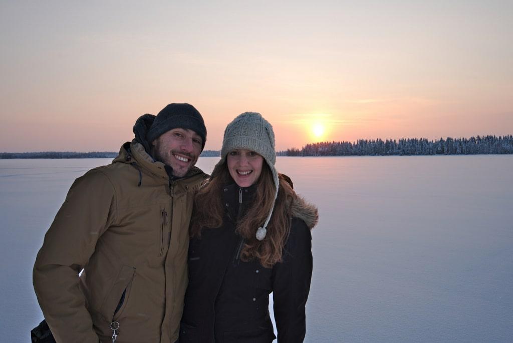 Fabienne et Benoit en Laponie finlandaise, blog voyage Novo-Monde