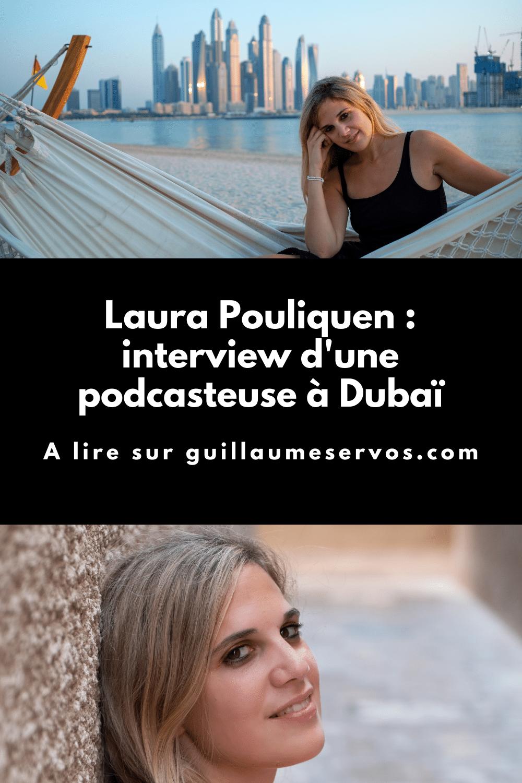 Découvre mon interview avec Laura Pouliquen, créatrice des podcasts L'aléa et Histoires de Dubaï. Au menu : son rapport au podcasting, aux réseaux sociaux et au voyage.