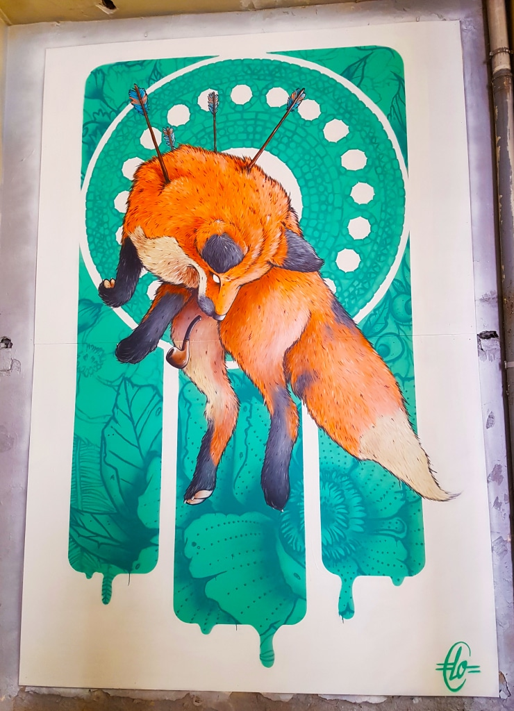 Découvre le renard de Laurent Claveau pour l'exposition street art ZOO Art Show à Lyon