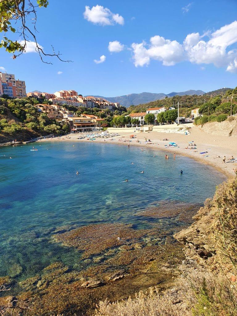 Où se baigner région de Collioure : plage des Elmes + Sana (Banyuls)