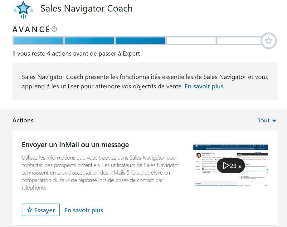 Le Sales Navigator Coach