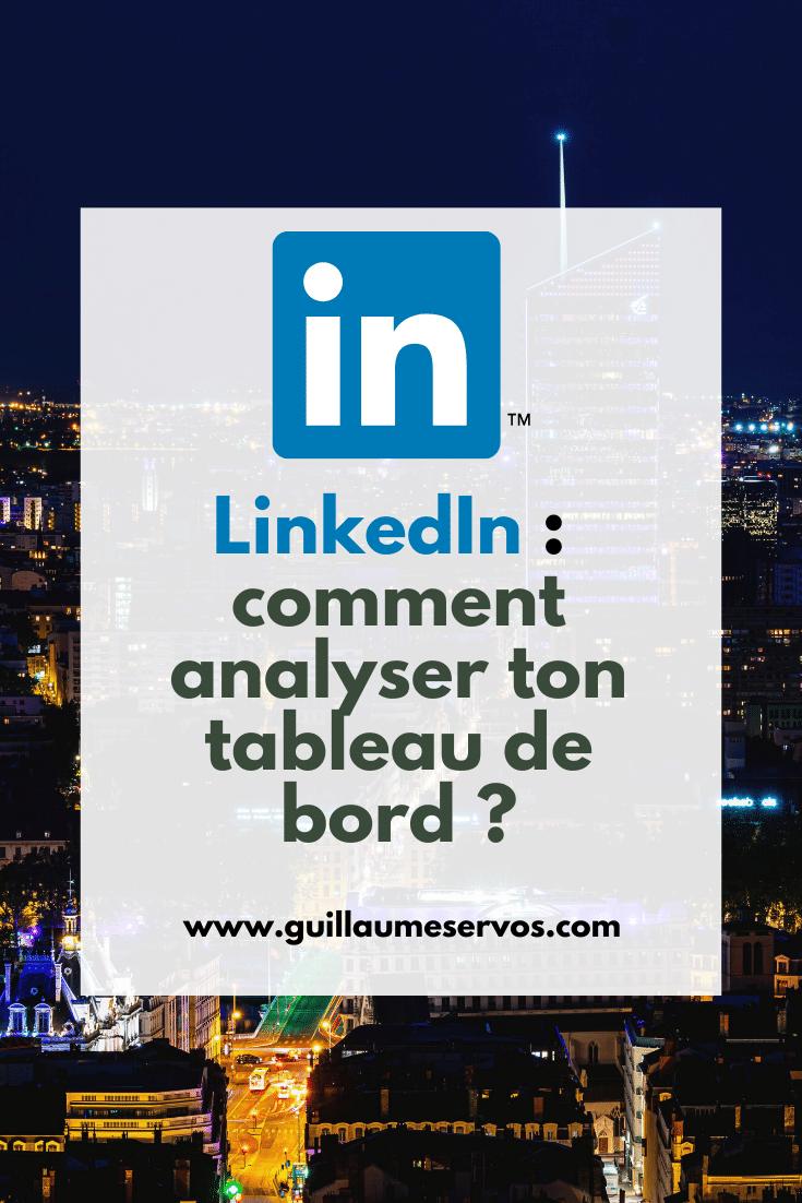 Tu cherches des donnés pour mesurer la performance de ton profil LinkedIn ? As-tu déjà jeté un coup d'œil sur ton tableau de bord ?