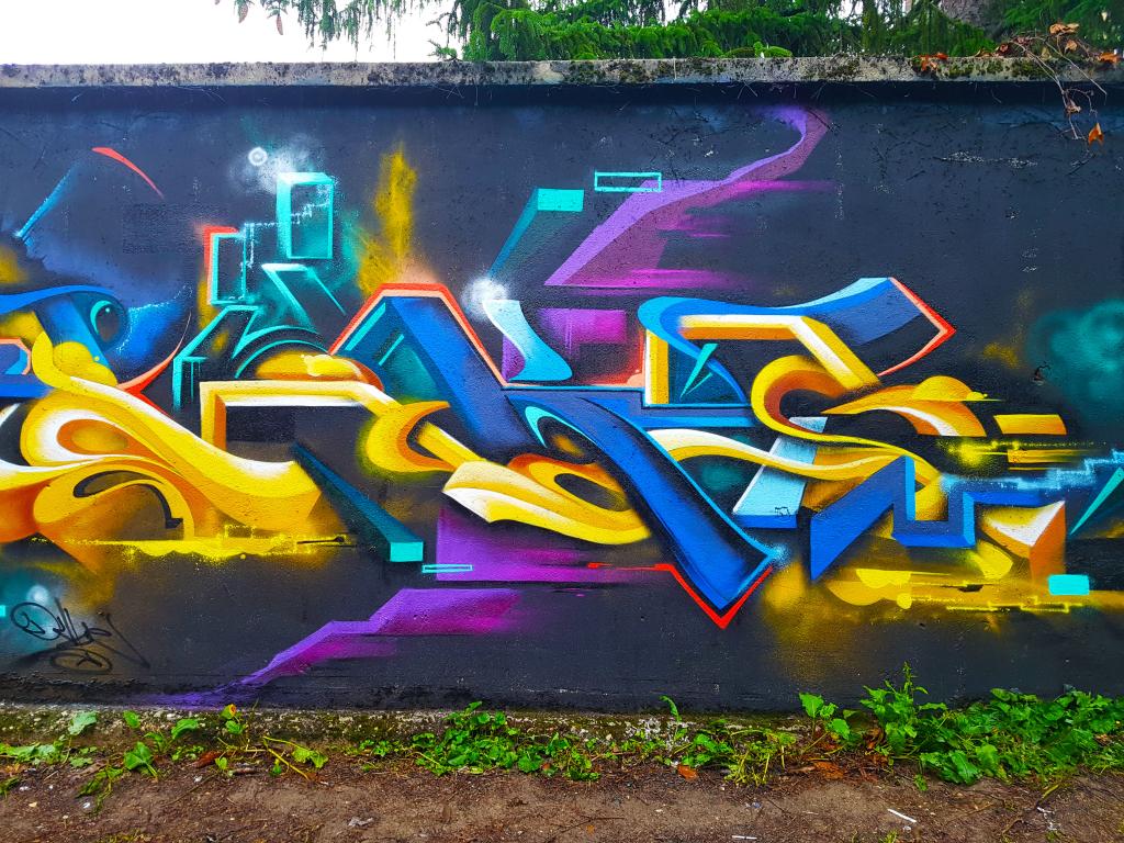 Le graffeur Lucky Duke 72 à Bourg-en-Bresse pour le festival d'art urbain Bourk en Spray