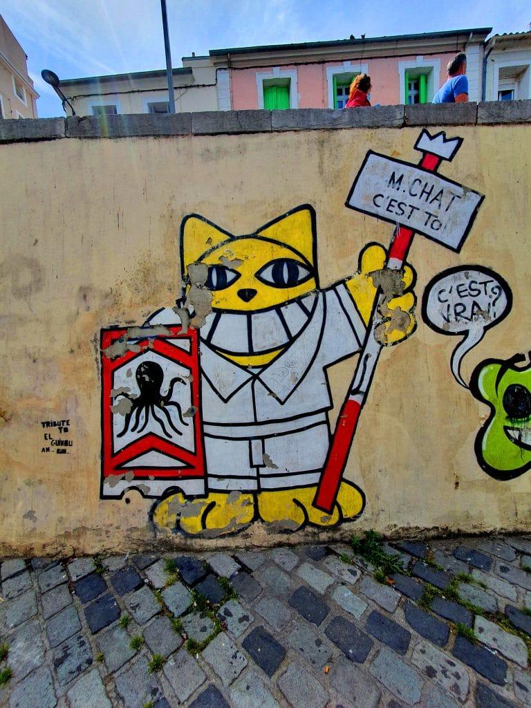 Le graffiti de M Chat à Sète (France)