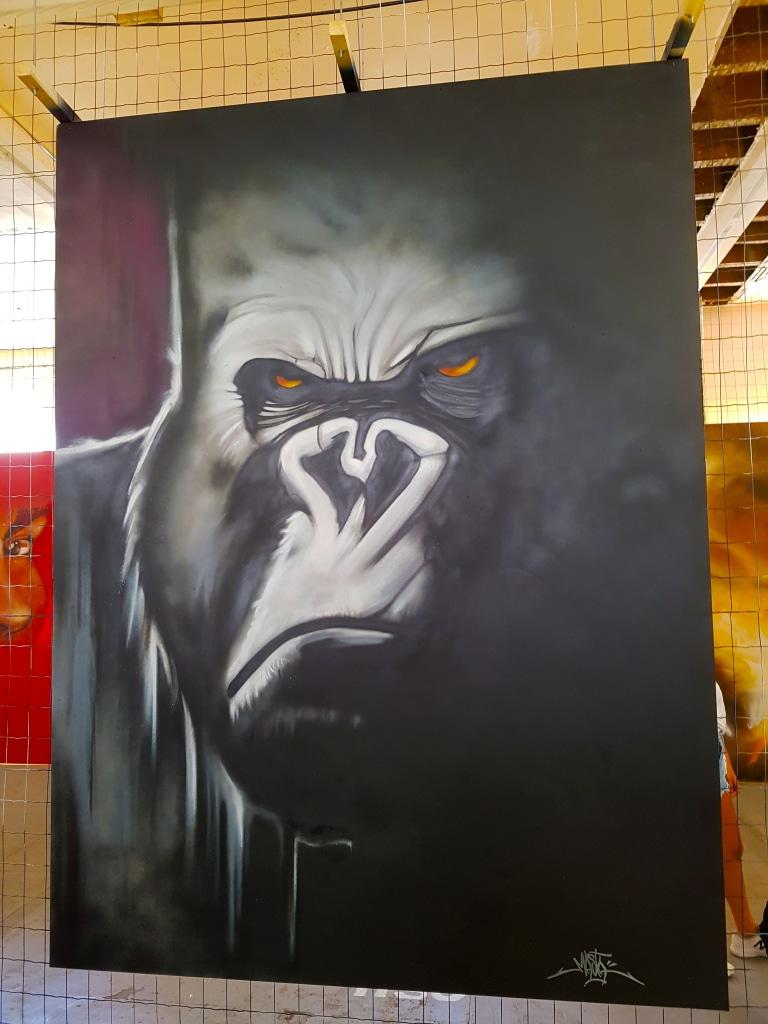 Découvre le gorille en street art de Masta pour l'exposition ZOO Art Show à Lyon