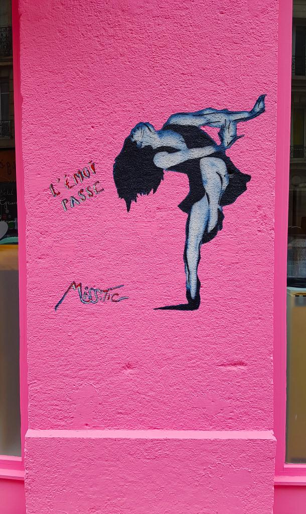 L'émoi passe. Miss Tic, street art Paris