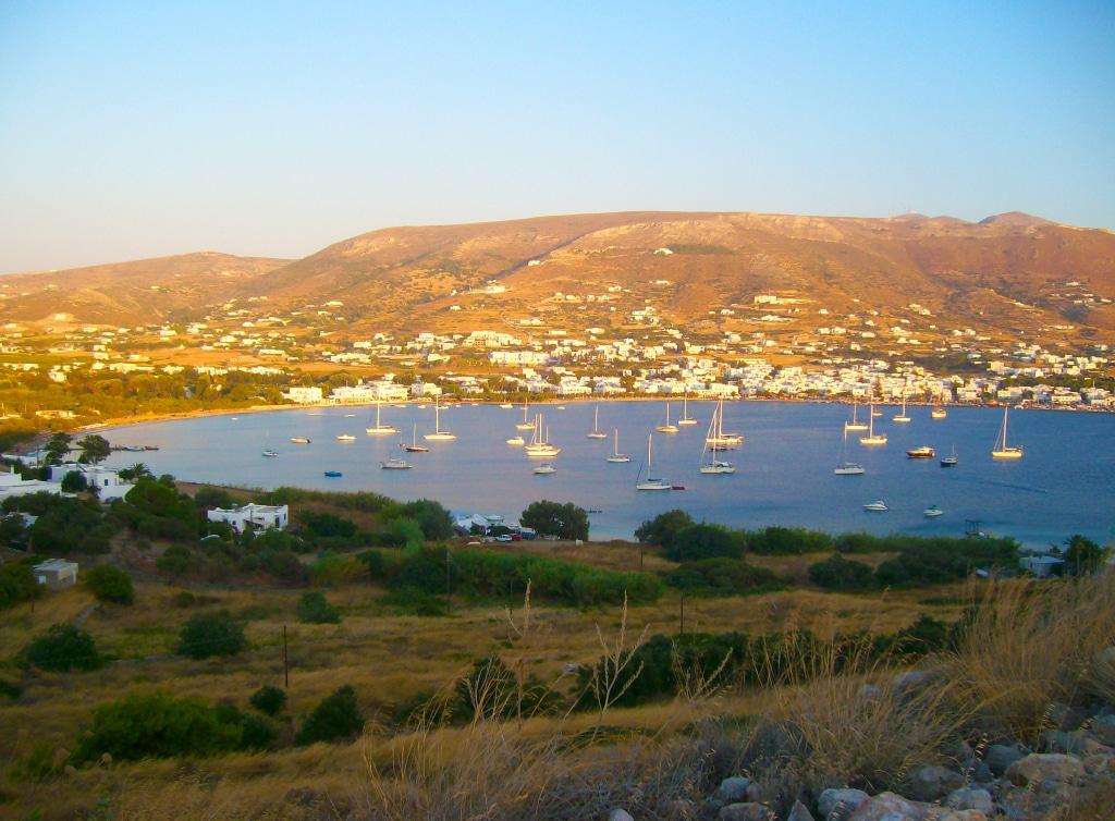 Dans les environs de Naoussa sur l'île de Paros dans les Cyclades en Grèce