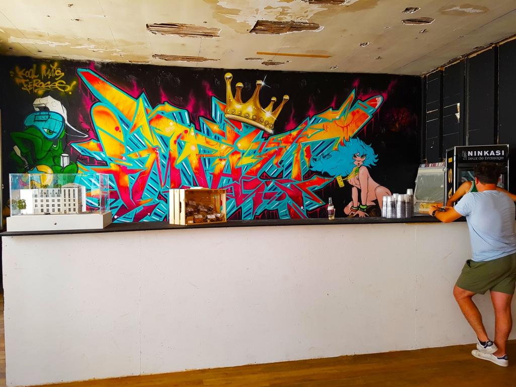 Le bar du ninkasi pour l'exposition street art Zoo Art Show2, Lyon.