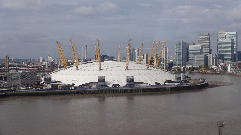 Le toit de l'O2 à Greenwich (Londres) dans les anecdotes insolites sur Londres