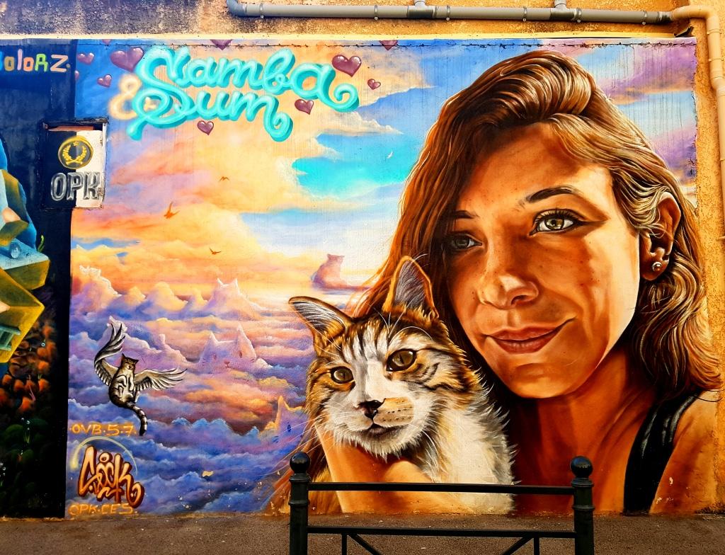 Le street artiste SaRK OVB OPK (@sark_ovb_opk) à La Seyne-sur-Mer, près de Toulon.