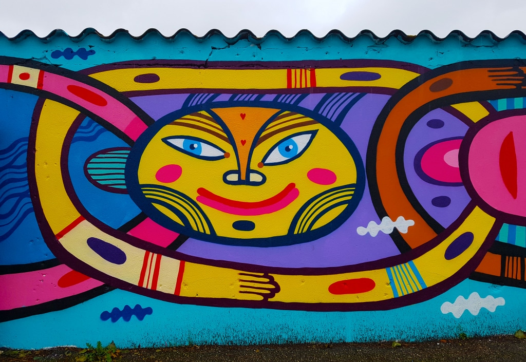Le street artiste Pablito Zago Boulevard Paul Bert à Bourg-en-Bresse