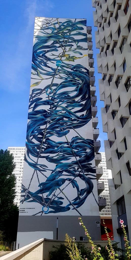 Le street artiste Pantonio dans le 13 arrondissement de Paris