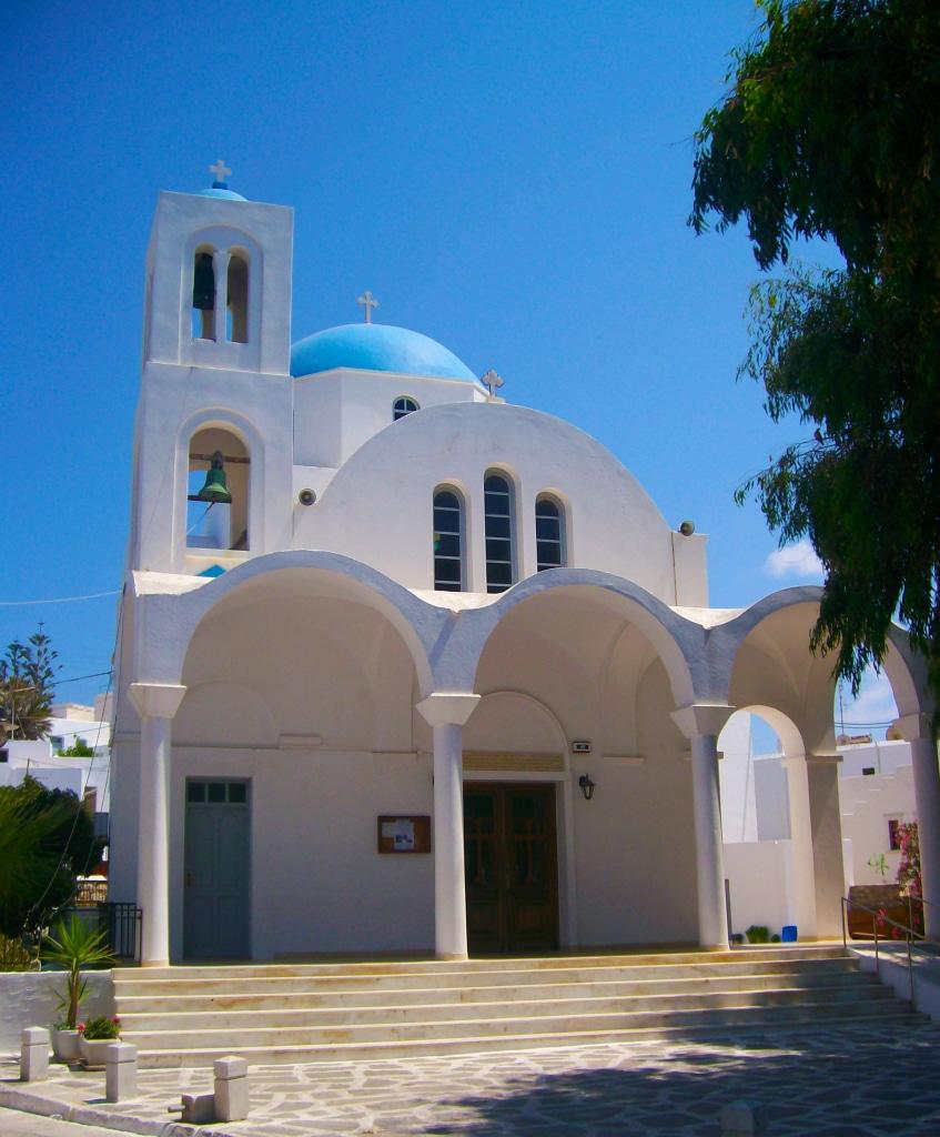 Exemple d'église que tu peux voir à Paros dans les Cyclades en Grèce