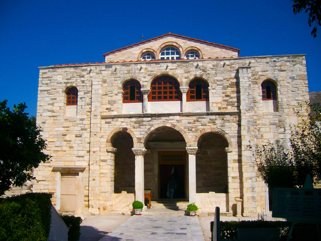 Exemple de monastère que tu peux voir sur l'île de Paros dans les Cyclades en Grèce