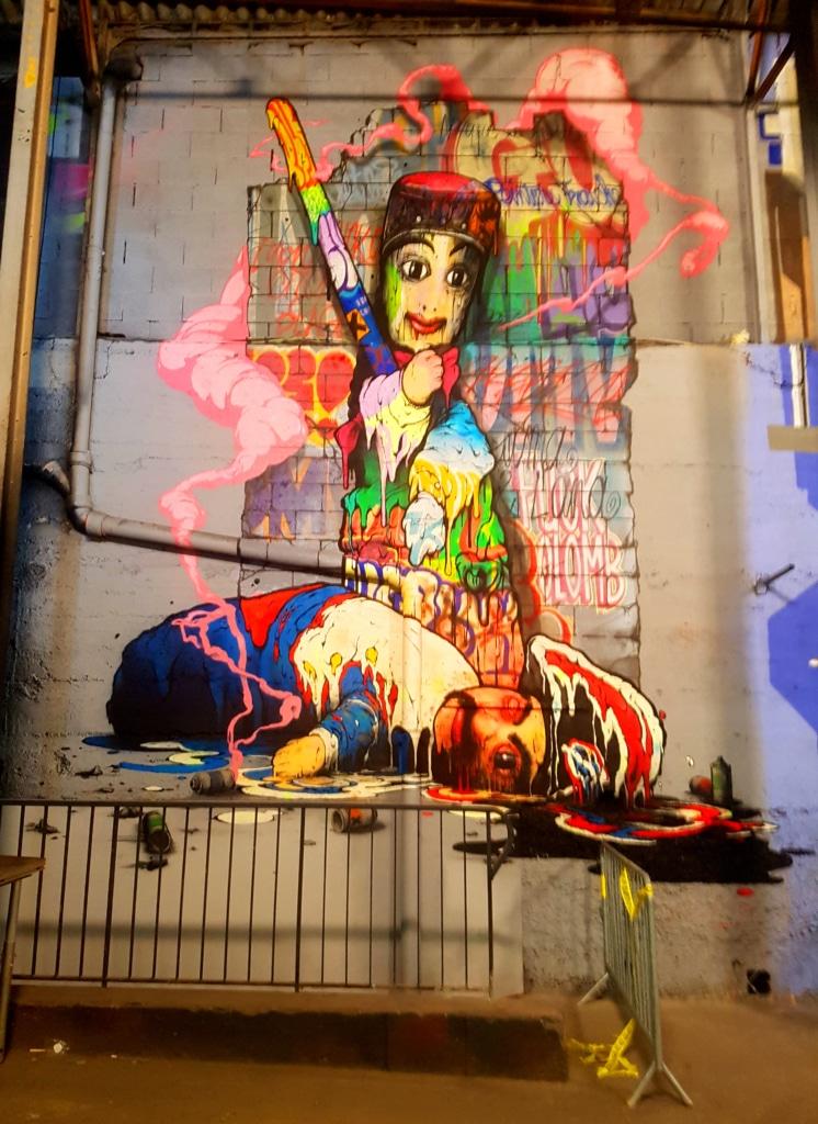 Guignol et street art Lyon