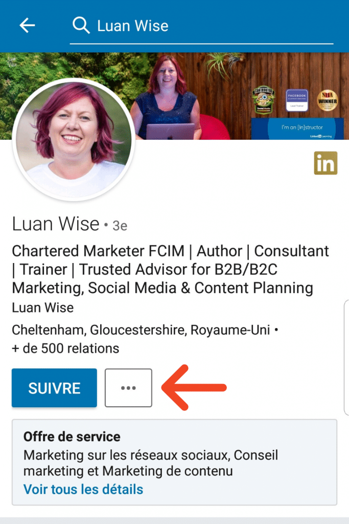 Personnaliser l'ajout de contact via l'application LinkedIn