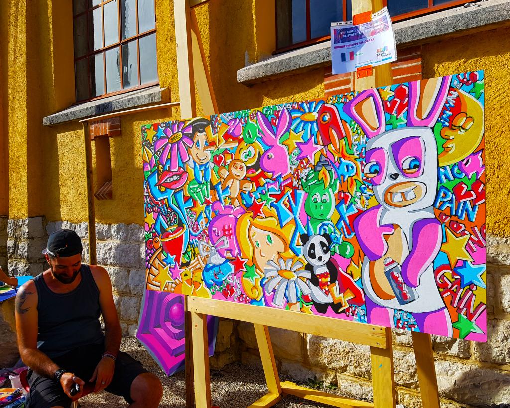 Philippe Enjolras pour l'édition 2018 du festival street art d'Oyonnax