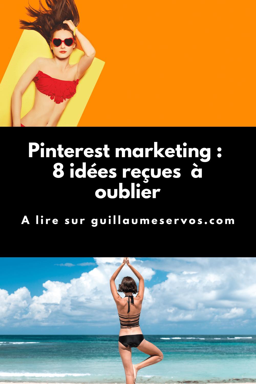 Décryptons ensemble 8 des mythes les plus courants atour du Pinterest marketing. Volume quotidien, contenus tiers, suppression d'épingle, nombre de tableaux, chute des impressions, épingles idées, mots-clés...