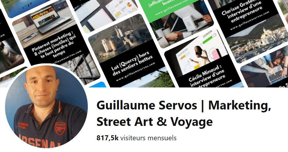 Profil Pinterest de Guillaume Servos