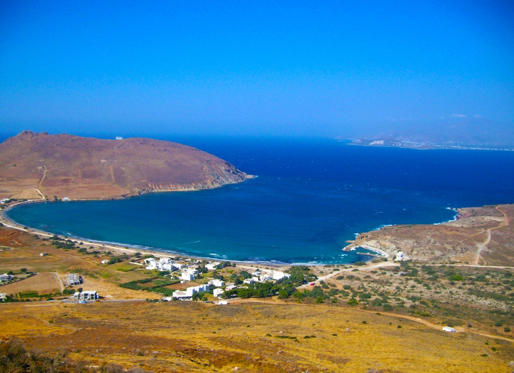 Sur les hauteurs de Pisso Livadi sur l'île de Paros dans les Cyclades en Grèce