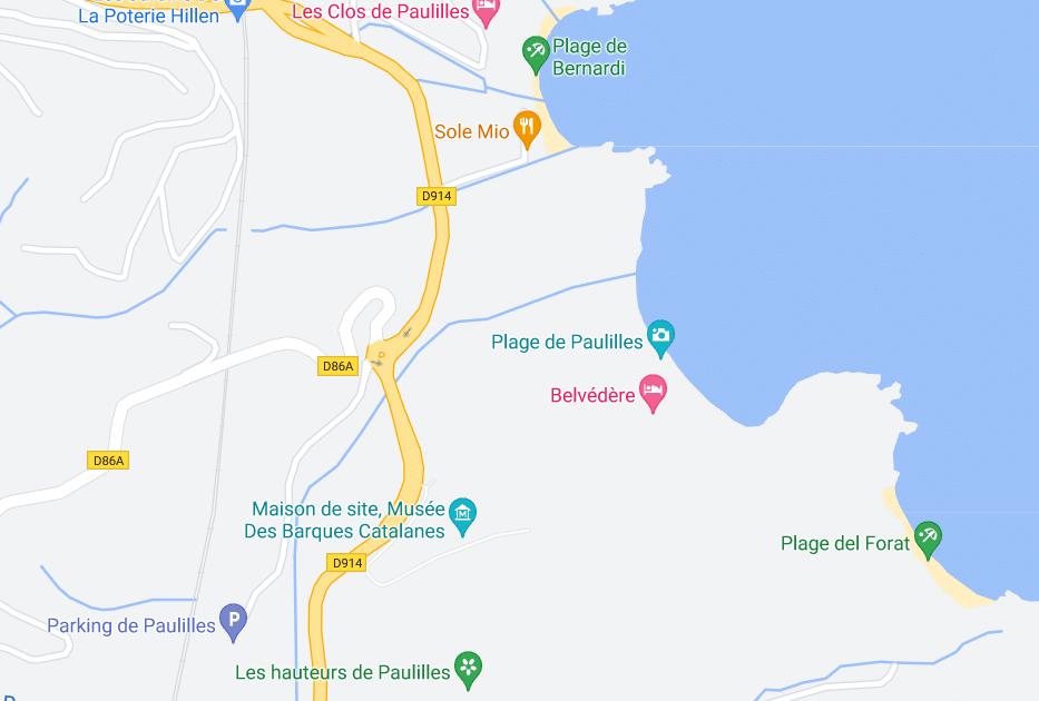 Accès au Domaine de Paulilles