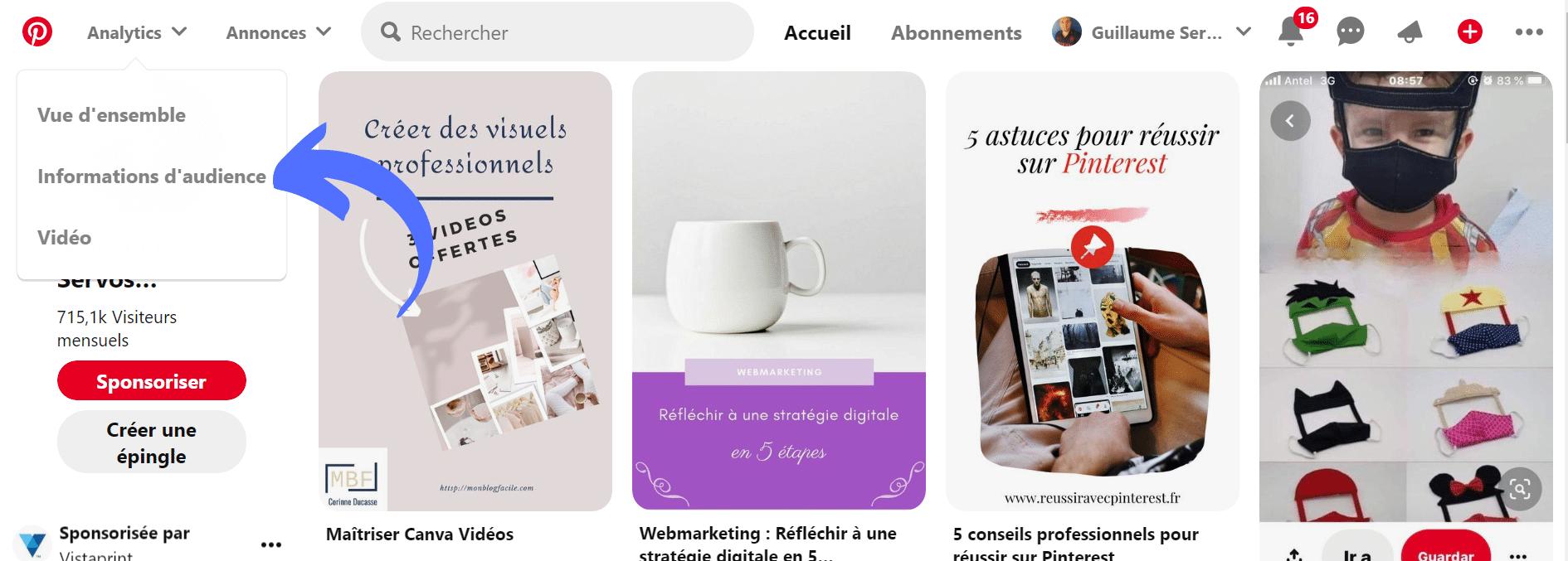 Comment accéder aux statistiques Pinterest ?