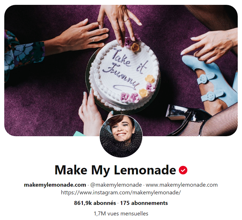 Le profil de Make My Lemonade
