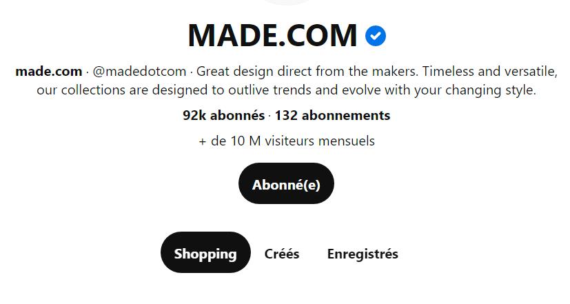 L'exemple de la marque française Made.com