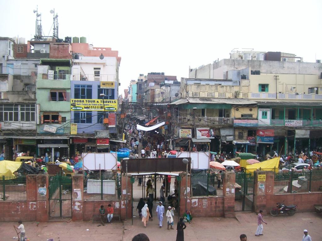 Le quartier autour de la mosquée de Jama Masjid dans le Old Delhi, Inde