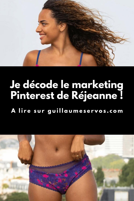 Comment Réjeanne utilise Pinterest pour son business ? Je décode le Pinterest marketing de la marque française qui révolutionne les culottes menstruelles.