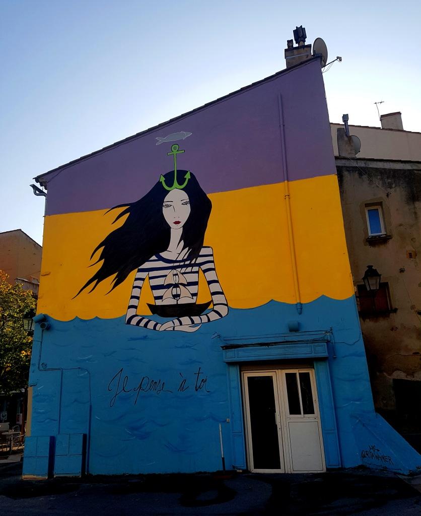 Rita Wainer, place Perrin, art urbain La Seyne-sur-Mer près de Toulon.