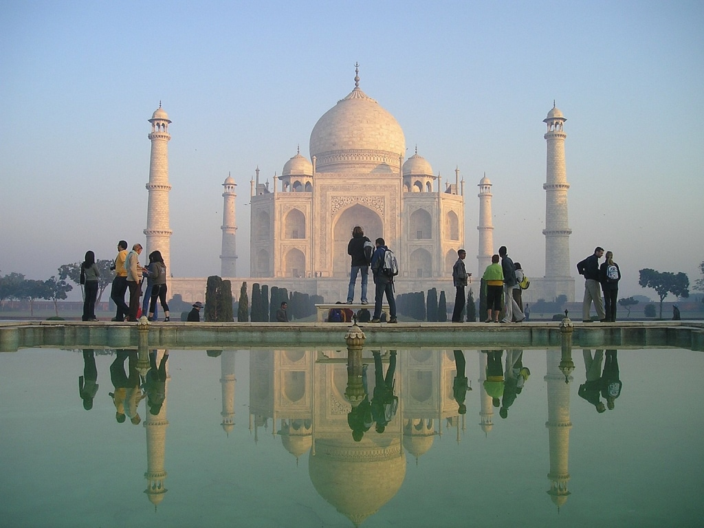 Visite du Taj Mahal, roadtrip en Inde