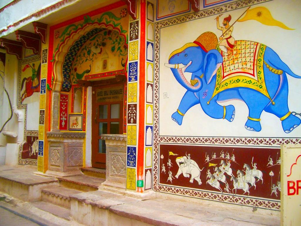 Cet éléphant, A deux pas de notre Hôtel dans le centre-ville de Bundi. Roadtrip en Inde