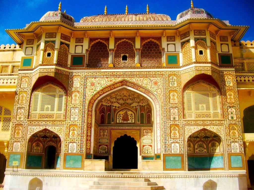 A l'intérieur d'Amber Palace, Jaipur. Roadtrip en Inde