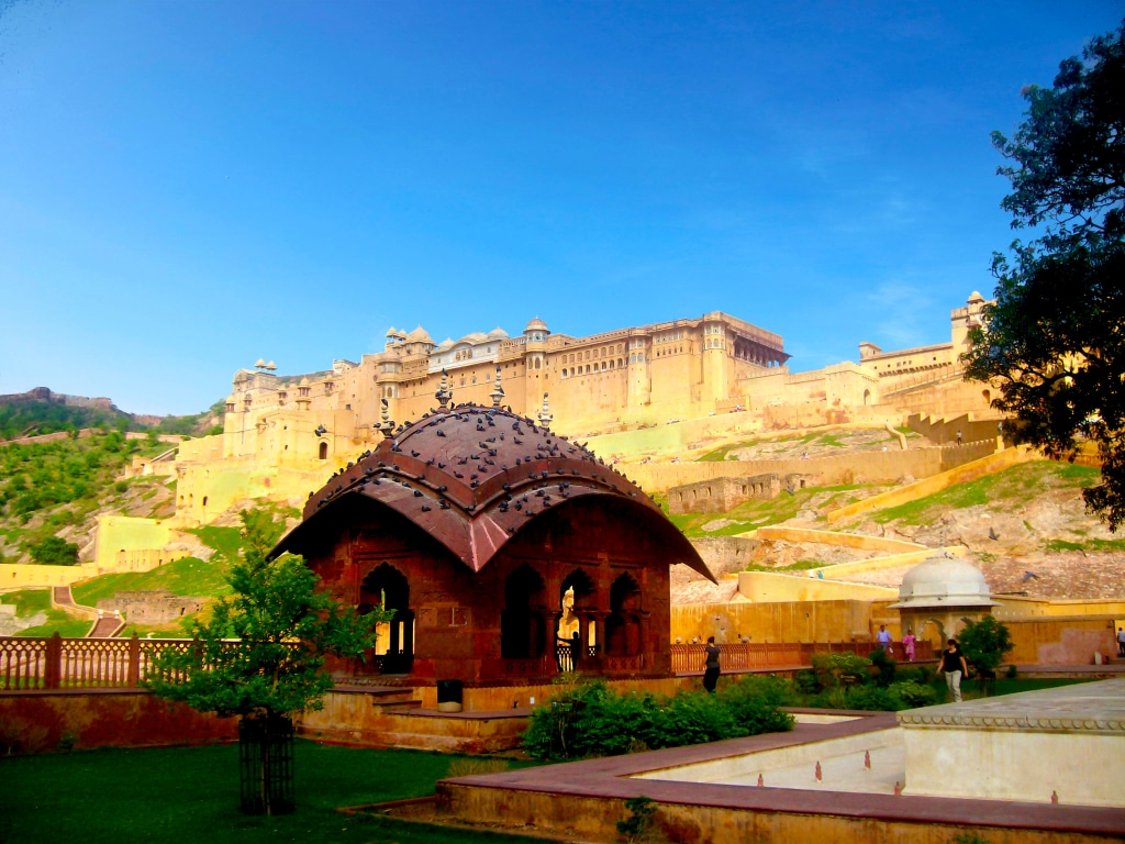 Amber Palace près de la ville de Jaipur dans l'état du Rajasthan, roadtrip en Inde