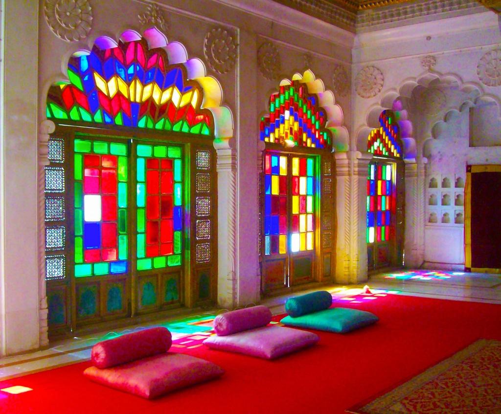 L'intérieur de la forteresse de Mehrangarh à Jodhpur dans le Rajasthan