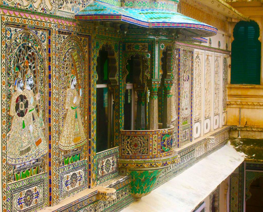 Les incroyables façades du City Palace d'Udaipur