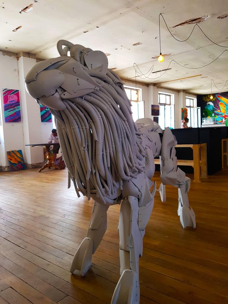 Les lions du sculpteur Romain Lardanchet, Lyon.