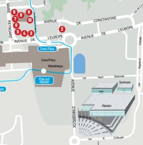 Carte du 20 rue Maurice Dodero, Grenoble.