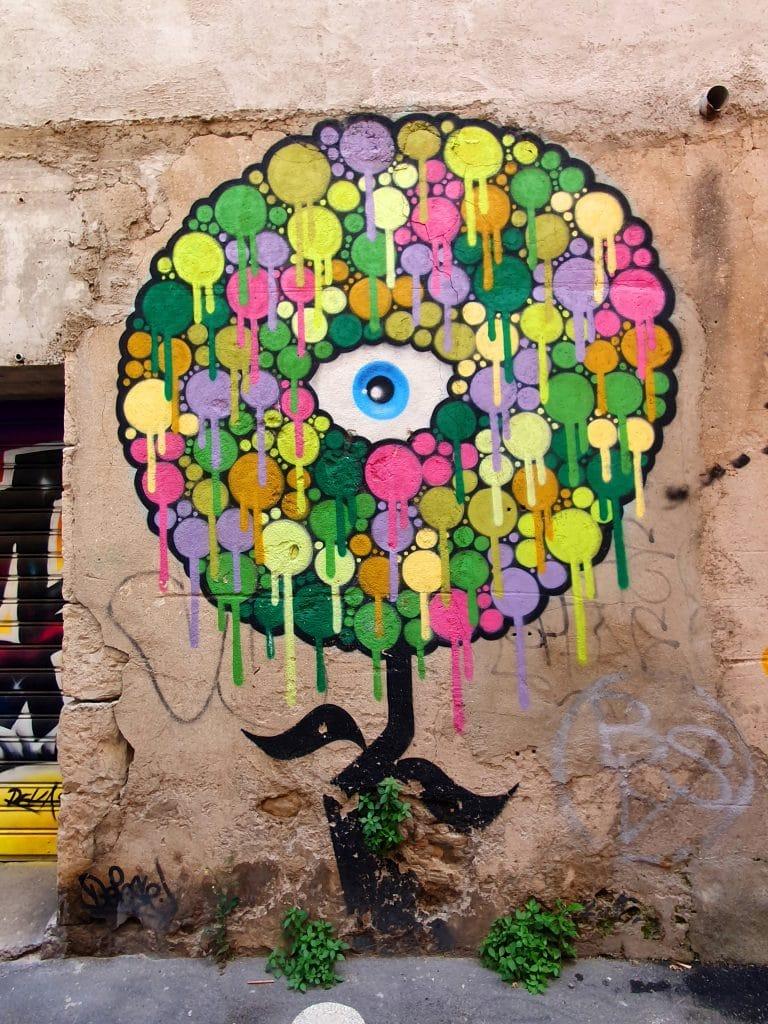 graffiti en vrac, rue de Tunis, Sète (France)