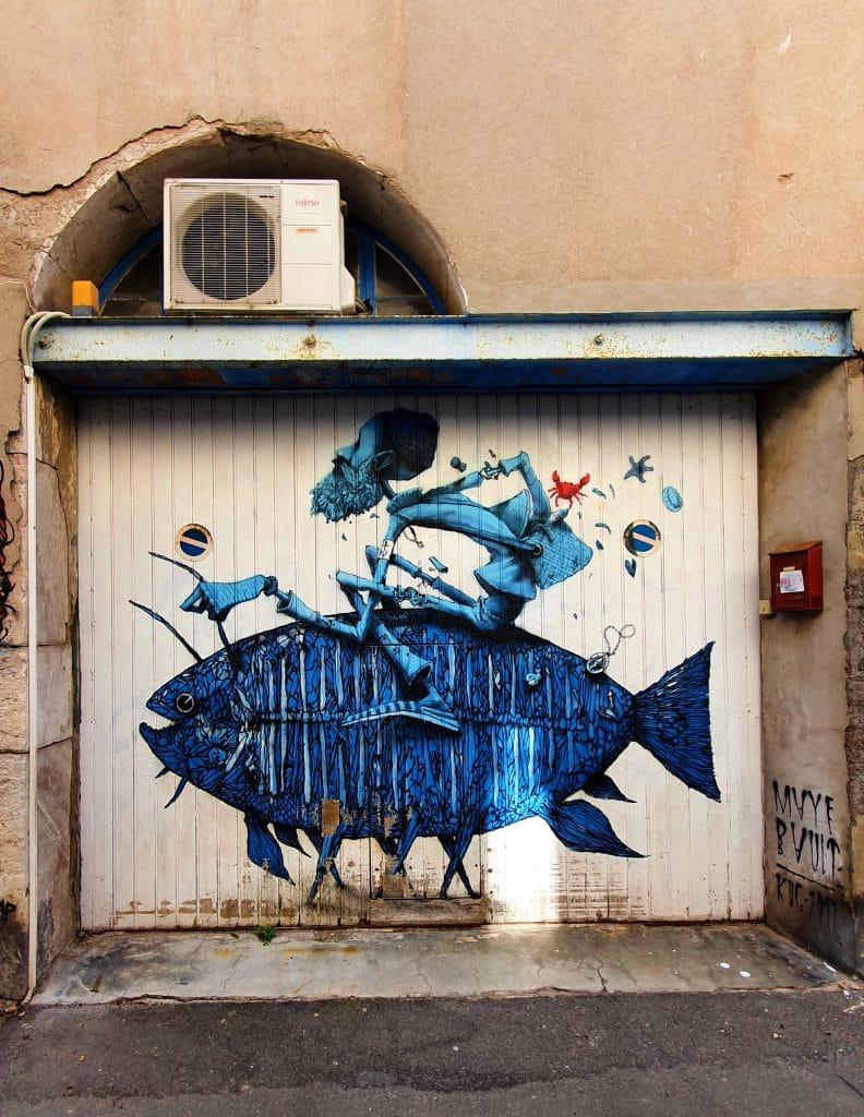 street art en vrac, rue de Tunis, Sète (France)